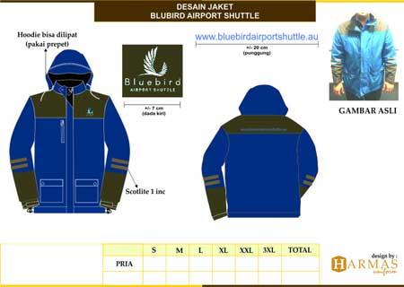 jaket lapangan bluebird